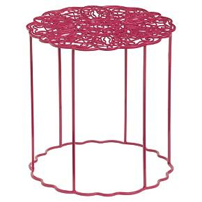 Tables - aries side table shopping in CB2 accent tables - pink, iron, side table