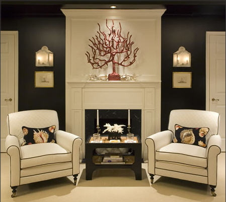 Design Modern Living Room on Kelley Interior Design   Bedrooms   White  Modern  Accent  Chairs