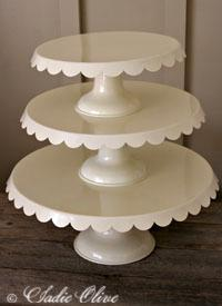 Sadie Olive ~ Enamel Cake Plates