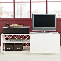 Storage Furniture - sliding door media stand | west elm - media stand, media console