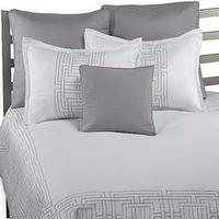 Bedding - Bed Bath & Beyond Product - grey and white greek design bedding