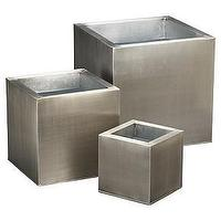 Decor/Accessories - galvanized planters shopping in CB2 tablescapes - planters