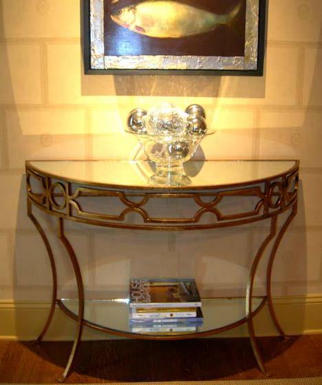 Worlds Away Gold Leaf Treillage Console By Worlds Away Furniture