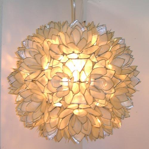 Home - Worlds Away: Venis Capiz Chandelier by: Worlds Away furniture - - Venis Capiz Chandelier