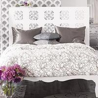 Beds/Headboards - Medallion Headboard - White Medallion Headboard