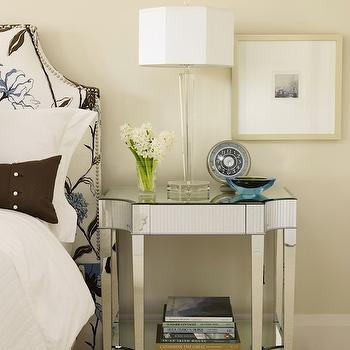 Mirrorrf Night Stand, Transitional, bedroom, Sarah Richardson Design