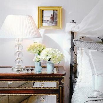 Mirrored Bedside Table, Contemporary, bedroom