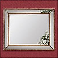 Mirrors - Bassett Mirror 6312-1713 - Antique Gold Leaf Beaded Bevel Wall Mirror - mirror