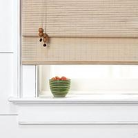 Window Treatments - bamboo roman shade| west elm - bamboo roman shades