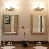 bathrooms - espresso, bathroom, cabinets, silver, mirror, countertops.,  bathroom  espresso bathroom cabinets, silver mirror and countertops.