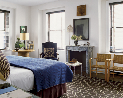 Gray Chairs on Nate Berkus Design   Bedrooms   Chairs  Blue  Bedding  Gray  Stone
