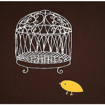 Art/Wall Decor - UrbanOutfitters.com > Chris Rubino Birdcage Wall Art - bird cage, canvas art