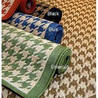 Rugs - Houndstooth Polypropylene Area Rug (2' x 7'6) from Overstock.com - houndstooth runner