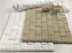 Bath - Lux Subway Tile Bath Mat in Taupe - Subway Tile Bath Mat