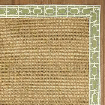 Rugs - Grid Jacquard Border Sisal Rug | Pottery Barn - rug
