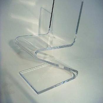 Modern Acrylic / Lucite Z Chair