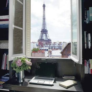 French Windows, Contemporary, den/library/office