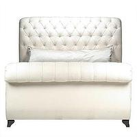 Beds/Headboards - Z Gallerie - Victoria Sleigh Bed - sleigh bed, tufted headboard