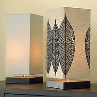 Lighting - square wood uplight lamp| west elm - Square wood upright lamp