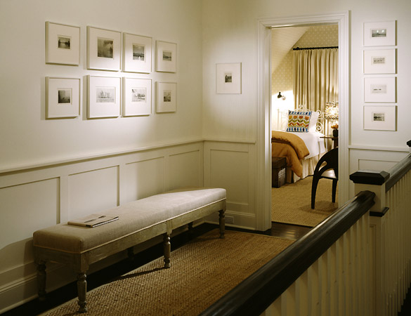 Hallway Wainscoting - Transitional - entrance/foyer - Nathan Egan