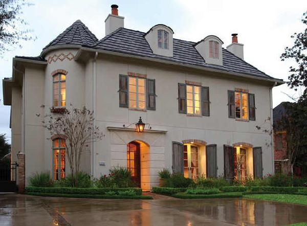French chateau french home exterior cote de texas for French country home exterior designs