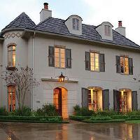 Cote de Texas - home exteriors - French, Chateau,  French chateau