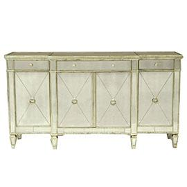 Reflections Mirrored Three Piece Cabinet Set Buffets And