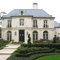 Robert Dame Designs - home exteriors - French, Chateau,  French home exterior