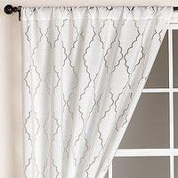 Window Treatments - White Lattice Burnout Curtain at World Market - curtain window white