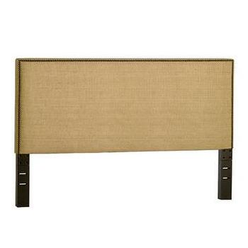 Beds/Headboards - nailhead upholstered headboard | west elm - headboard, nailhead trim