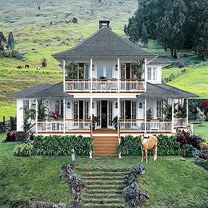 O Magazine - home exteriors - Hawaii, wraparound porch,  Hawaii