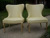 Seating - PAIR HOLLYWOOD REGENCY HIGH BACK CHAIRS EAMES ERA - eBay (item 360088109467 end time Sep-18-08 16:02:24 PDT) - chair