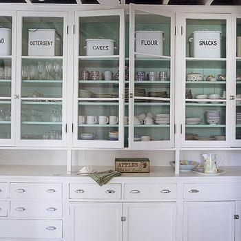 Glass Front Cabinets, Eclectic, kitchen