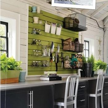 House & Home - garages - work area, garage work area, garage ideas, garage work station, organized garage, 1006 Navy Chair,  Erin Feasby - Great