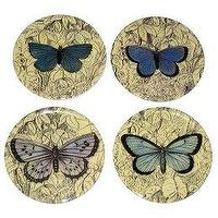 Decor/Accessories - John Derian Blue Butterfly Coaster Set of 4 : Target - plates