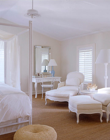Bedroom sitting area transitional bedroom benjamin for Benjamin moore french white