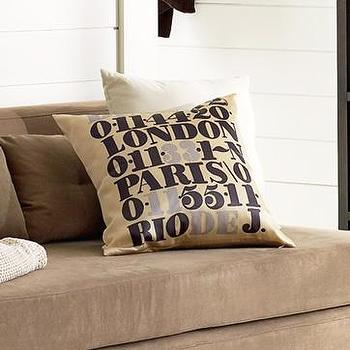 country code pillow cover, west elm