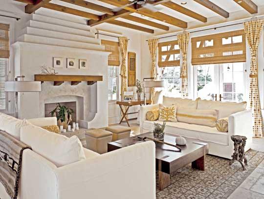 exposed wood beams cottage living room. Black Bedroom Furniture Sets. Home Design Ideas