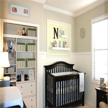 HGTV - nurseries - tan walls, tan paint, tan paint color, tan nursery walls, tan nursery paint, tan nursery paint color, tan nursery colors, nursery closet,