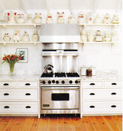 White KItchen Cabinets ORB Pulls - Eclectic - kitchen