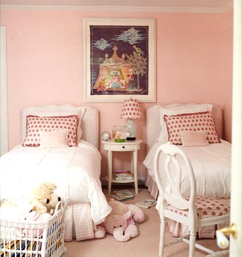 Pink Girl Room - Traditional - girl's room - Benjamin Moore Rose ...
