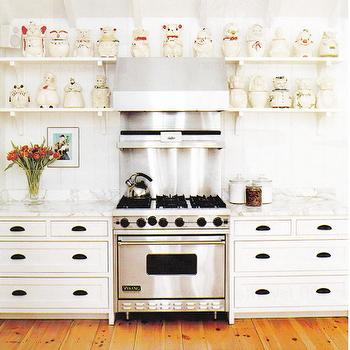 White KItchen Cabinets ORB Pulls, Eclectic, kitchen