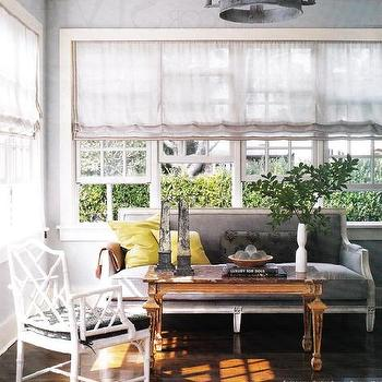 Gray Settee, Transitional, living room