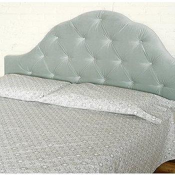 Beds/Headboards - UrbanOutfitters.com > Velvet Tufted Headboard - Grey - headboard