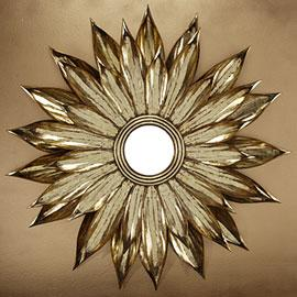 Mirrors - Z Gallerie - Sunflower Mirror - mirror