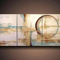 Art/Wall Decor - Etsy :: JMJSTUDIO :: HUGE JMJSTUDIO ORIGINAL 3 PIECE PAINTING 24 INCHES X 54 INCHES - art, abstract