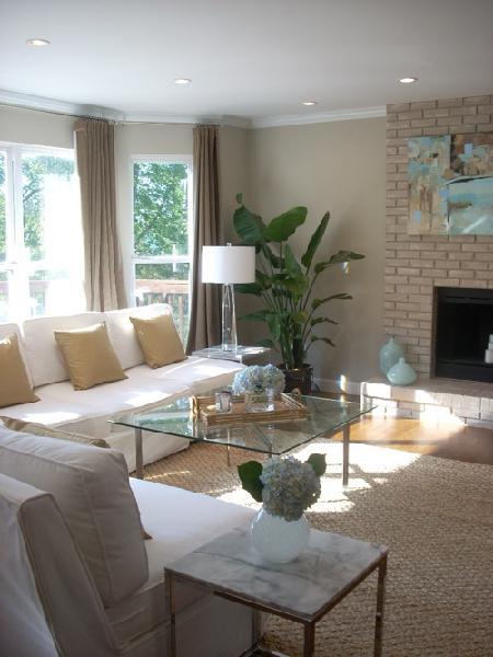 Living Room - Benjamin Moore Grant Beige