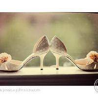 Miscellaneous - wedding shoes - peach, white shoes