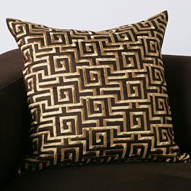 Z Gallerie Labyrinth Pillow Chocolate