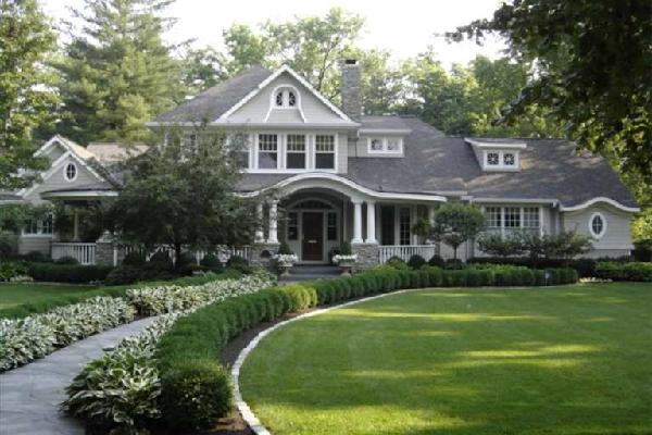 wraparound porch traditional home exterior